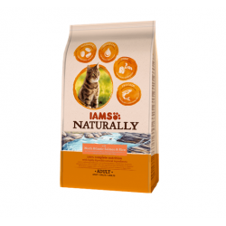 Iams Naturaly-Chat Adult Salmon du North & Rice (1)