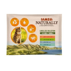 Iams Naturaly-Multipack Land & Sea pour Chat (1)