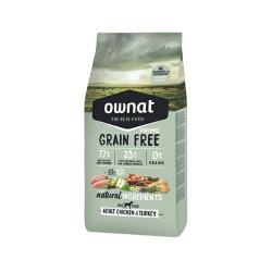 Ownat Grain Free Prime-Croquettes Adulte Poulet et Dinde pour Chien (1)