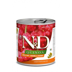Farmina ND Dog Quinoa Skin Coat Arenque comida húmeda para perros 6x285grs