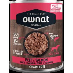 Ownat Wetline comida húmeda para perros beef & salmon