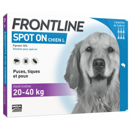 Frontline-20-40 kg Pipettes Antiparasitaires Chien (1)