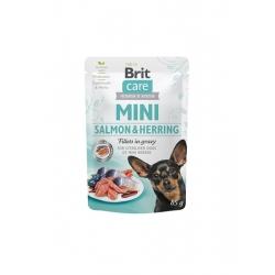 Brit care mini filetes salmon y arenques en salsa latas para gato